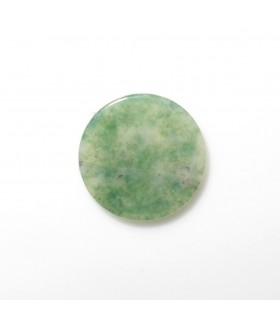 Moss Agate Round Flat Disk 10 mm. (6 pcs.).- Item: 850CB