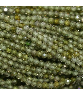 Green Cubic Zirconia Faceted Round 2mm.Strand 40cm.-Item.10198