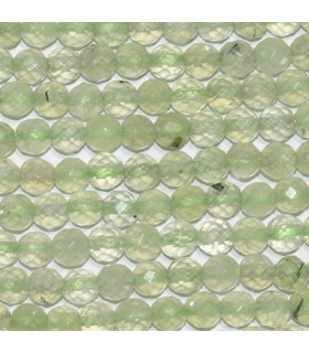 Prehnite Faceted Round 5mm.-Strand 40cm.-Item.10214