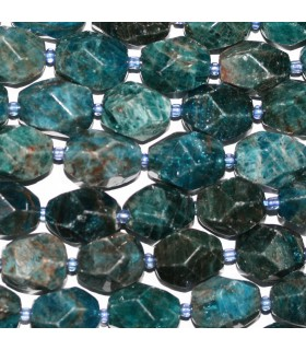Blue Apatite Faceted Nugget 16x12mm.Approx.-Strand 40cm.-Item.10221
