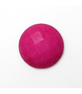 Cabujon Jade Fucsia Redondo Facetado 12 mm. (8 piezas).- Ref: 578CB