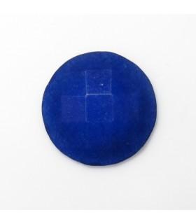 Cabujon Jade Azul Redondo Facetado 12 mm. (8 piezas).- Ref: 579CB
