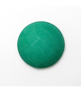 Green Jade Round Faceted Cabochon 12 mm. (8 pcs.).- Item: 953CB