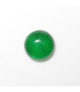 Cabujon Jade Verde Redondo 9 mm. (4 piezas).- Ref: 972CB