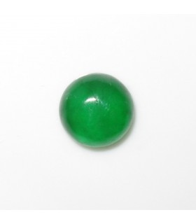 Green Jade Round Cabochon 9 mm. (4 pcs.).- Item: 972CB
