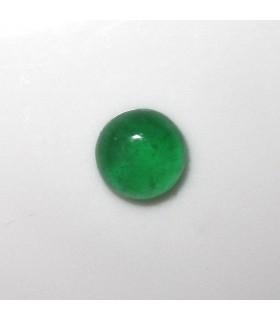 Cabujon Jade Verde Redondo 8 mm. (4 piezas).- Ref: 973CB