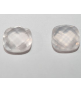 Rose Quartz Cushion Briolette cut 8mm Item.134PE