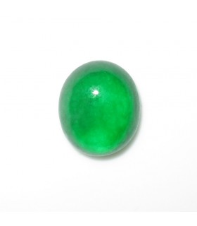 Green Jade Oval Cabochon 14x12 mm.- Item: 1005CB