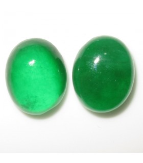 Green Jave Oval Cabochon 15x12 mm. (2 pcs).- Ref: 1006CB