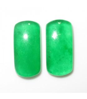 Cabujon Jade Verde Rectangular 21x10 mm. (2 piezas).- Ref: 1007CB
