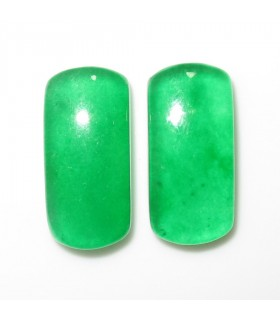Green Jade Rectangular Cabochon 21x10 mm. (2 pcs.).- Item: 1007CB