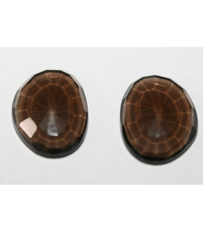Smoky Quartz Pair Rose Cut 10x13mm .Item137pe