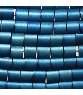 Hematite Azul Cuadrado Liso 7mm.-Hilo 40cm.-Ref.10234