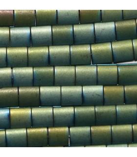 Hematite Verde Cuadrado Liso 7mm.-Hilo 40cm.-Ref.10235