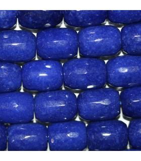 Jade Azul Barril Facetado 16x12mm.-Hilo 39cm.-Ref.10246