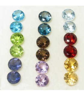 Lote Piedras Varias Redondo Facetado 5 mm. (18 piezas).- Ref: 931CB