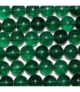 Cuarzo Verde Bola lisa 8mm.-Hilo 39cm.-Ref.10258