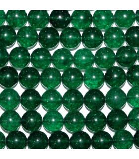 Cuarzo Verde Bola lisa 10mm.-Hilo 39cm.-Ref.10259