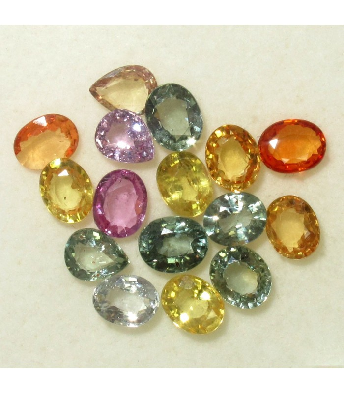 Lot Sapphire Faceted Oval 5x4 mm. (6.9 ct.).- Item: 011LO