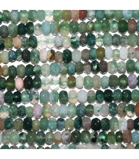 Indian Agate Faceted Rondelle 4x3mm.-Strand 39cm.-Item.10261