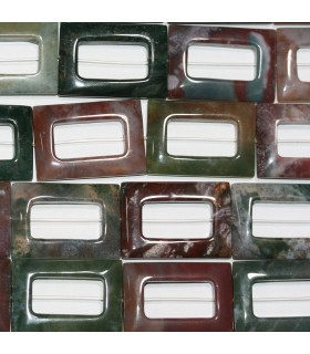 Indian Agate Smooth Rectangular 32x22mm.-Strand 40cm.-Item.10266