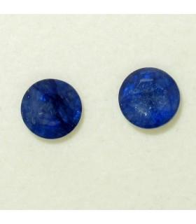 Lote Zafiro Azul Redondo Facetado 7 mm (3.6 ct.).- Ref: 028LO