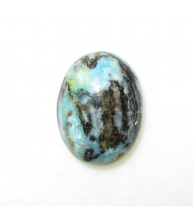 Turquoise Oval Cabochon 15x12 mm. (4 pcs.).- 958CB