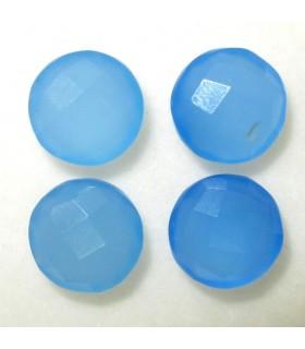 Lote Calcedonia Azul Redondo Facetado 10 mm. (4 piezas).- Ref: 030LO
