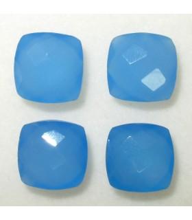 Lote Calcedonia Azul Talla Cojin Briolette 10 mm. (4 piezas).- Ref: 032LO