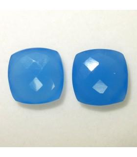 Lote Calcedonia Azul Talla Cojin Briolette 14 mm. (2 piezas).- Ref: 033LO