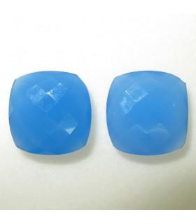 Lote Calcedonia Azul Talla Cojin Briolette 16 mm. (2 piezas).- Ref: 034LO