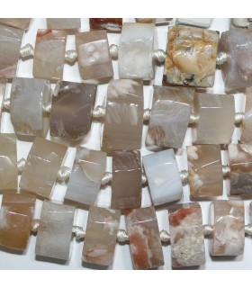 Botswana Agate Graduated Faceted Rondelle 13x9-18x13mm. Approx.-Strand 50cm.-Item.10292