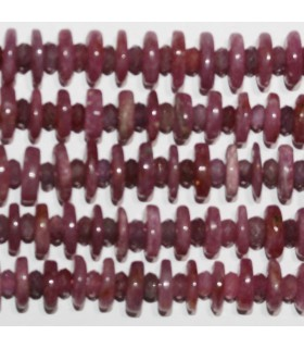 Ruby Faceted Rondelle 8x2 4x3mm.Approx.-Strand 36cm.-Item.10330