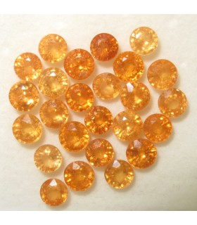 Lot Spessartine Faceted Round 4 mm. aprox. (10 ct.).- Item: 057LO