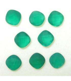 Lote Onix Verde Cojin Facetado 6 mm. (6.9 ct.).- Ref: 058LO