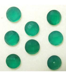 Lote Onix Verde Redondo Facetado 6 mm. (6 ct.).- Ref: 059LO