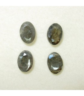 Gray Silimanite Faceted Oval 7x5 mm. (4 pcs.).- Item: 111PE