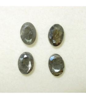 Silimanita Gris Oval Facetada 7x5 mm. (4 piezas).- Ref: 111PE
