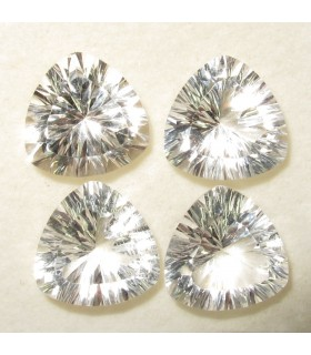 Lot Rock Crystal Faceted Trillion 12 mm. (4 pcs.).- Item: 062LO