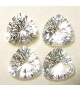 Lote Cristal de Roca Trilion Facetado 12 mm. (4 piezas). -Ref: 062LO
