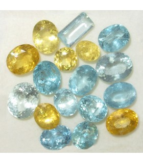 Lot Aquamarine and Heliodore Faceted (22.4 ct.).- Item: 066LO