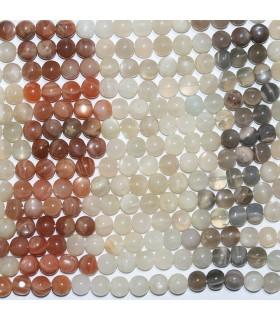 Piedra Luna Multicolor Bola lisa 7mm.-Hilo 37cm.-Ref.10347
