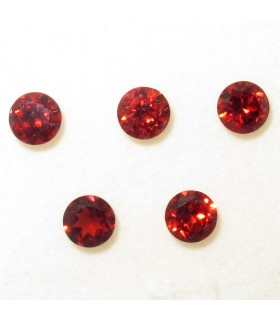 Lot Garnet Faceted Round 5 mm. (3.1 ct.).- Item: 071LO