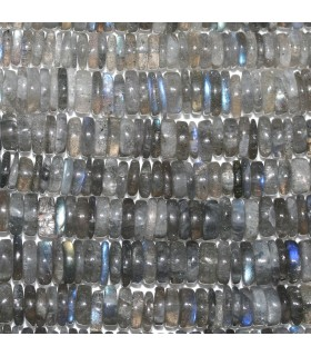 Labradorita Disco Liso 6-7x2mm.-Hilo 36mm.-Ref.10352