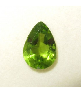 Peridot Faceted Drop 12.70x8.90 mm. (4 ct.).- Item: 177PE