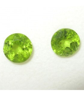 Lot Peridot Faceted Round 9 mm. (7 ct.).- Item: 074LO