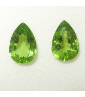 Lot Peridot Faceted Drop 13x8.90 mm. (7.8 ct.).- Item: 075LO