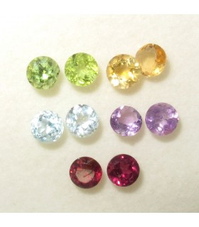 Lot Multi Stone Faceted Round 4 mm. (10 pcs.).- Item: 077LO
