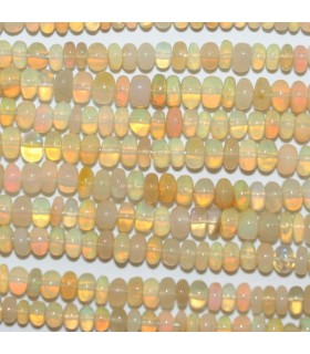 Opalo De Etiopia Rodaja Lisa 4x2mm.-Hilo 33cm.-Ref.10363