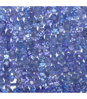 Tanzanite Graduated Faceted Rondelle 3x2-4x2mm.-Strand 40cm.-Item.10365